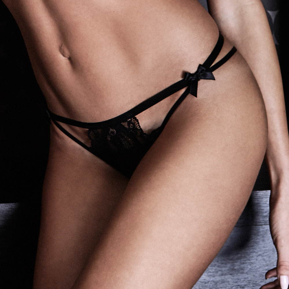 String midnight lingerie