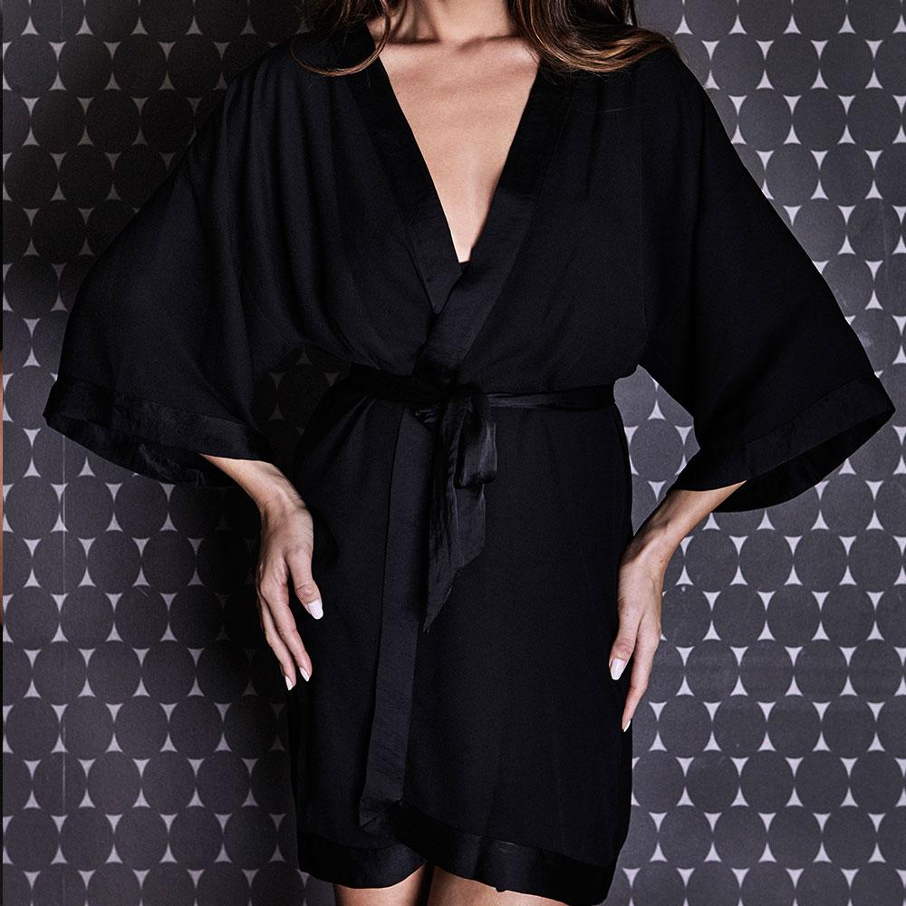 kimono midnight lingerie